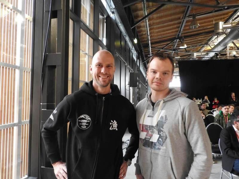 Hatch cofounders Vesa Jutila (left) and Juhani Honkala (right).