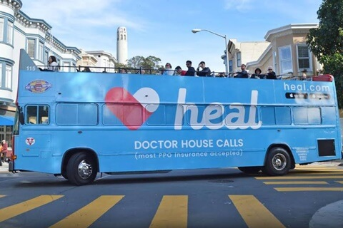 Heal gets doctors to come to your house.