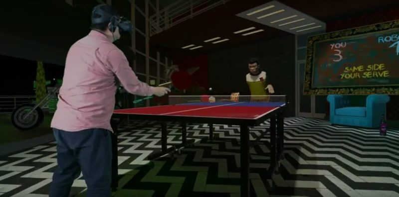 Ping Pong on the HTC Vive.