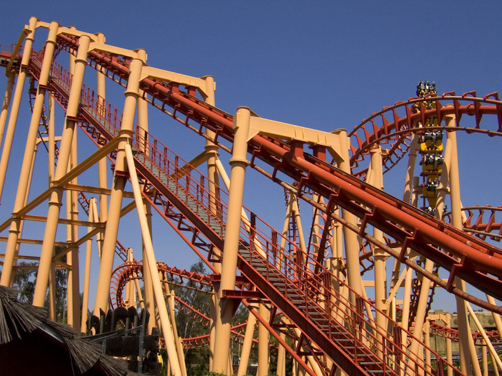 Galactic Attack converts the old Kong roller coaster at Six Flags Discover Kingdom.