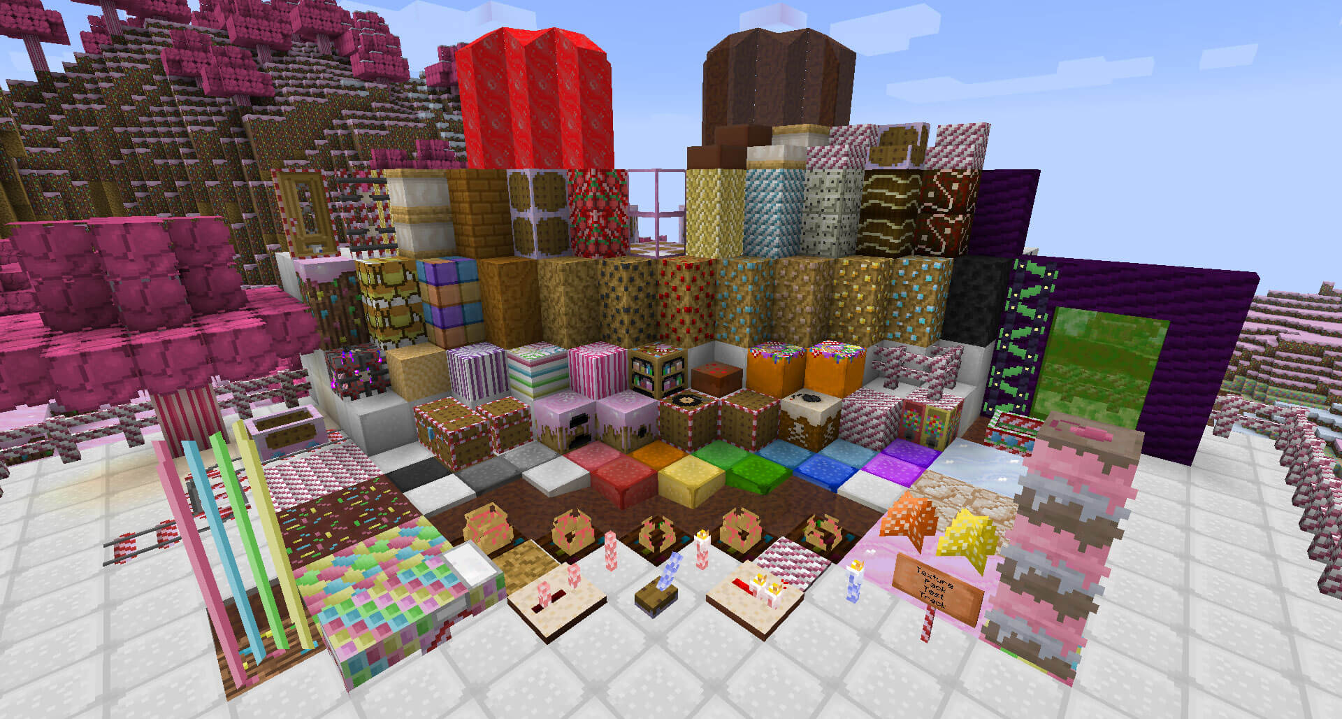 minecraft sweetens up its ios android and windows 10 versions with candy texture pack gamesbeat. Black Bedroom Furniture Sets. Home Design Ideas
