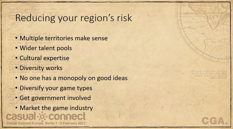 Reducing your game region's risks.
