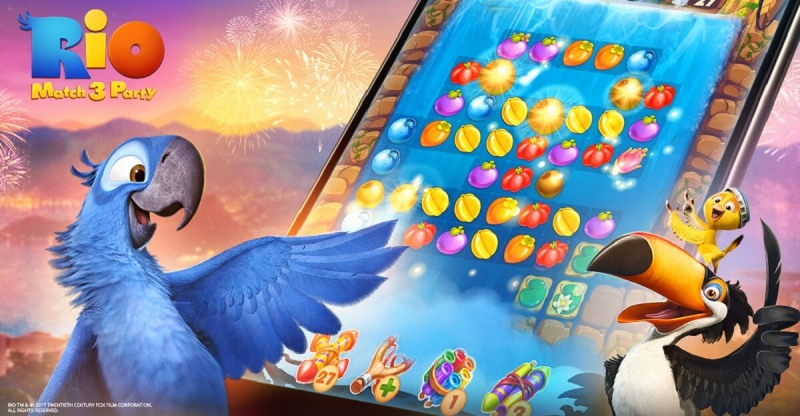 Rio characters come back to mobile with Plarium's Match 3 game.