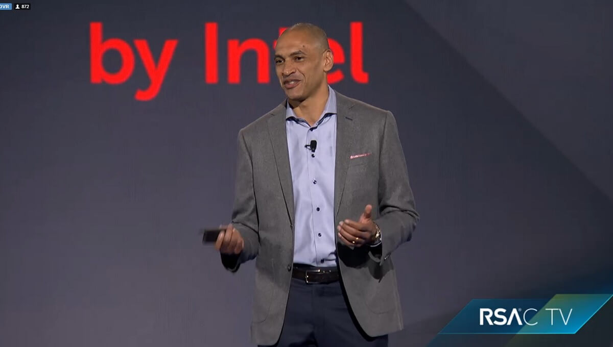 Chris Young, CEO of Intel Security, at RSA.