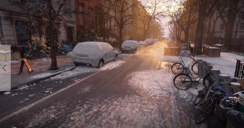 A scene from The Division shows the realism of the Snowdrop engine.