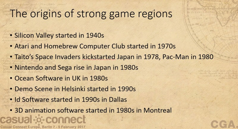 Strong game regions got their start early.