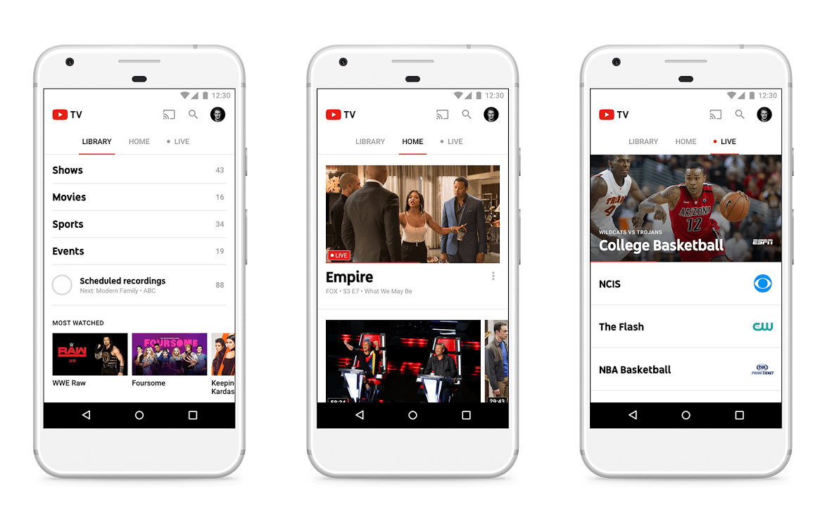 YouTube TV app