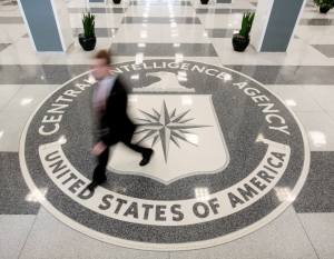 The lobby of the CIA Headquarters Building is pictured in Langley, Virginia, U.S. on August 14, 2008.