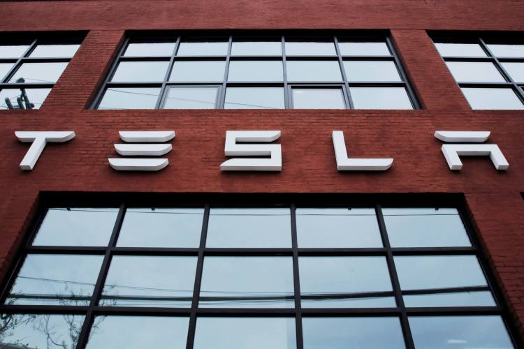 Tesla dealership sign