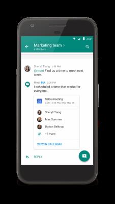 @Meet bot for Google Hangouts Chat