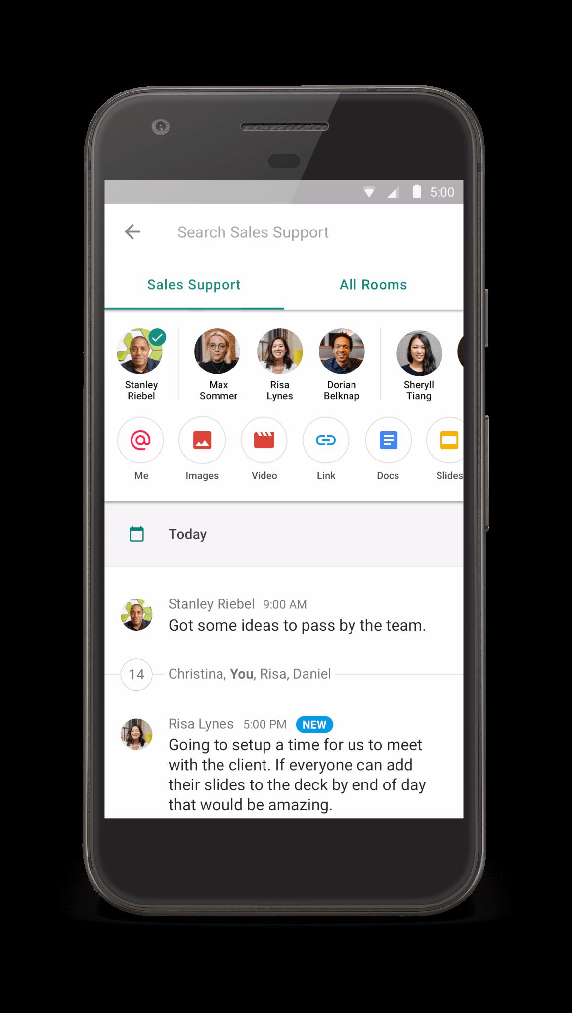 Google Launches Hangouts Chat Its Slack Competitor Venturebeat