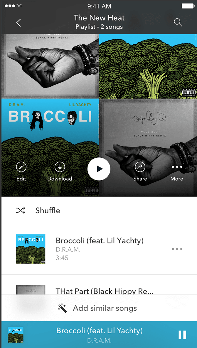 Pandora Premium: Add Similar Songs