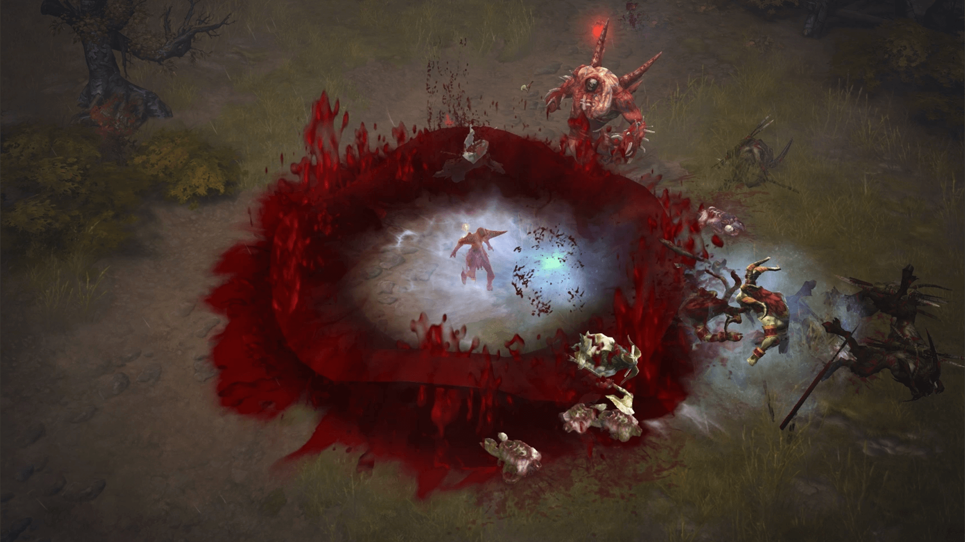 So much blood, courtesy of the Diablo III's Necromancer.