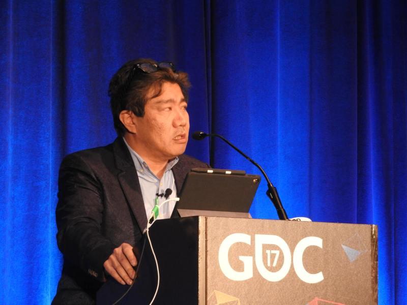 Yoot Saito, creator of Seaman, at GDC 2017.