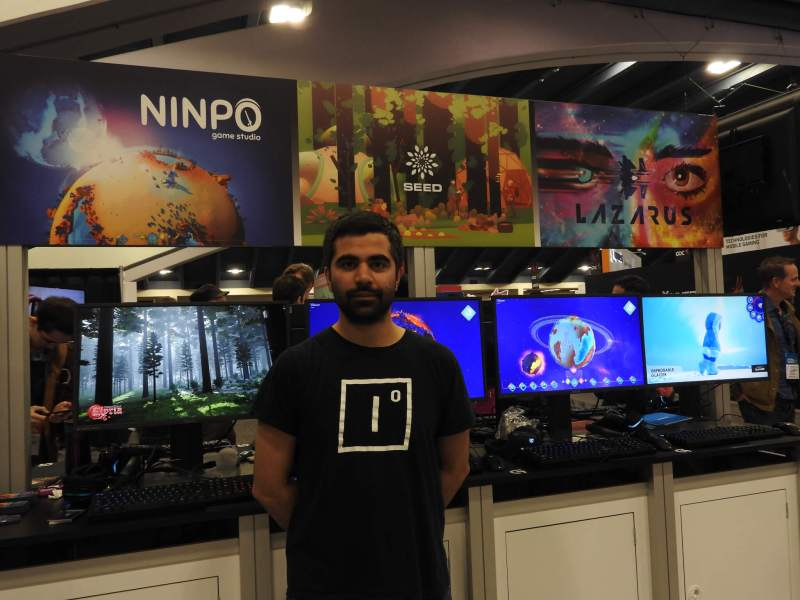 Herman Narula, CEO of Improbable at the company's booth at GDC 2017.