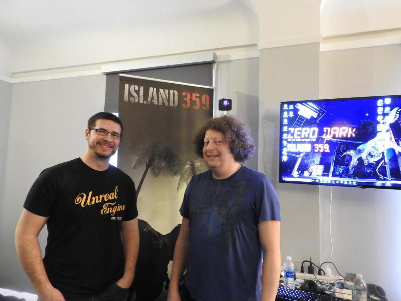 Jeremy Chapman (left) and Steve Bowler of CloudGate at GDC 2017.