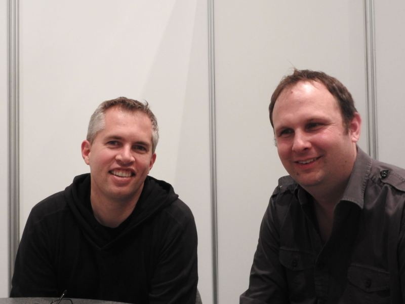 John Earner (left) and Simon Hade of Space Ape Games at GDC 2017.