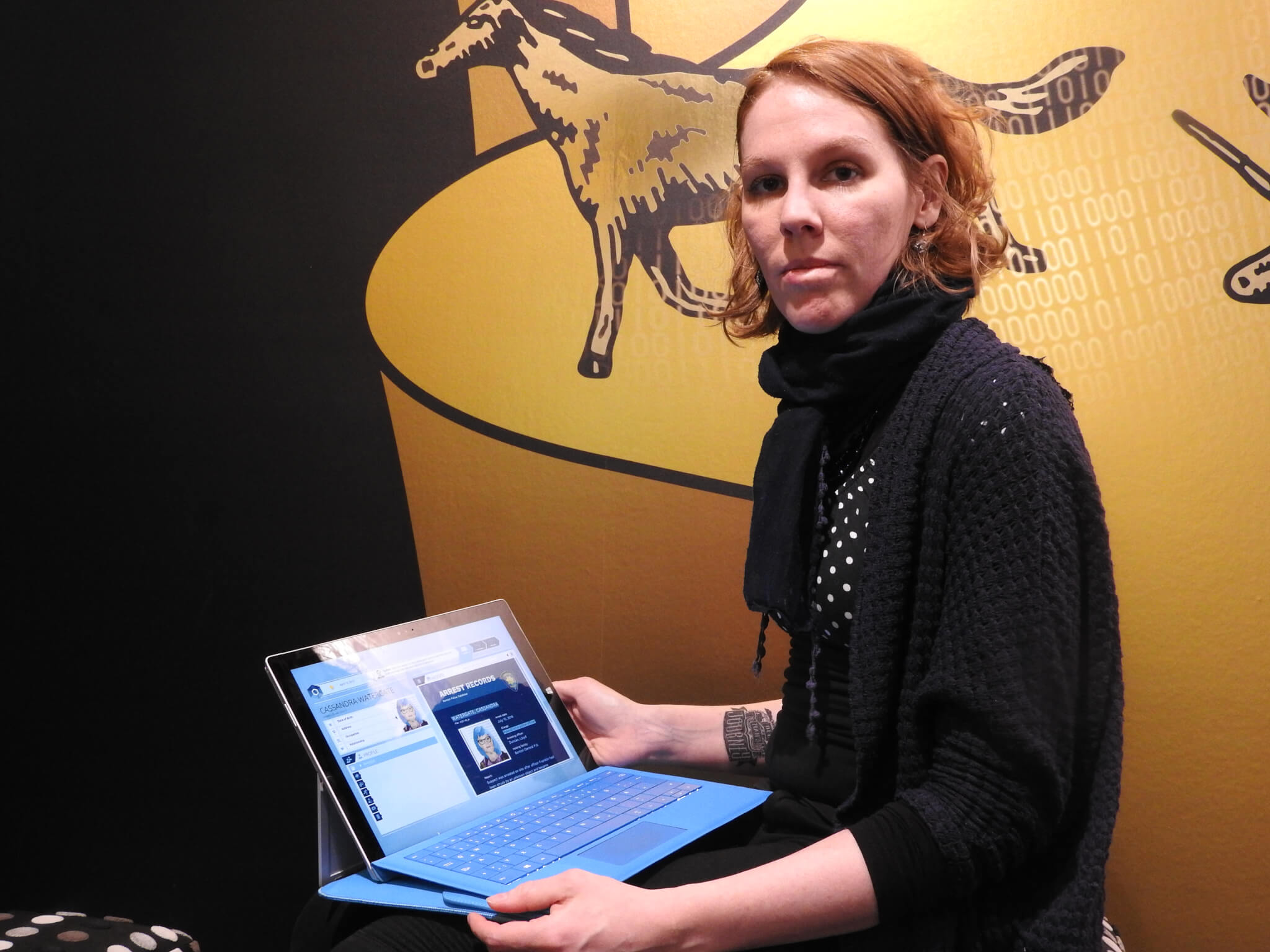 Melanie Taylor shows off Orwell at GDC 2017.