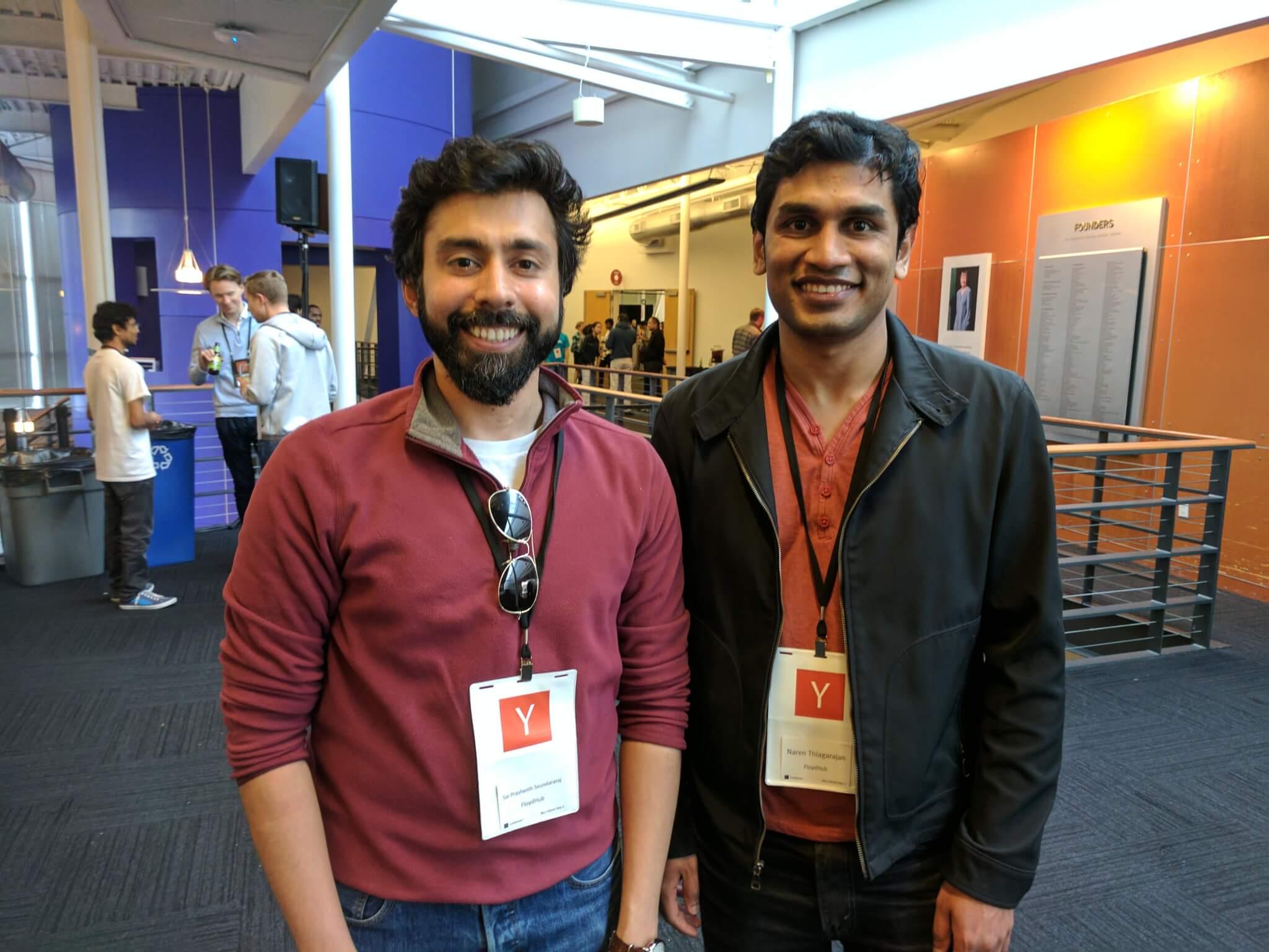Floyd founders Sai Prashanth Soundararaj, left, and Naren Thiagarajan.
