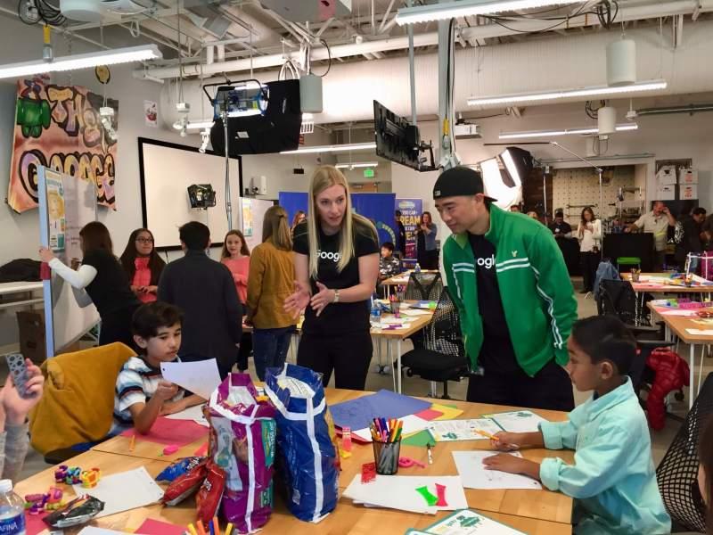 Kids and Googlers brainstorming