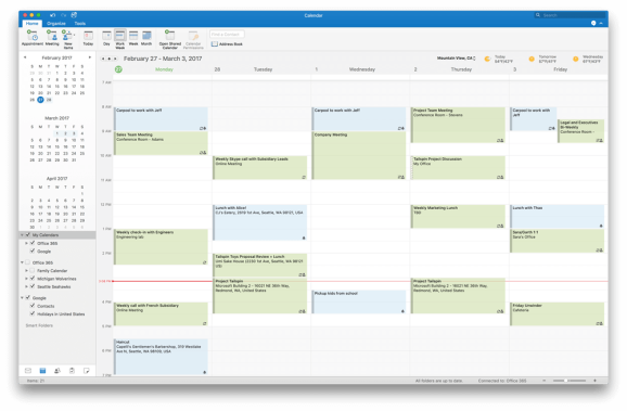 microsoft adds google calendar and contacts support to outlook 2016 for mac