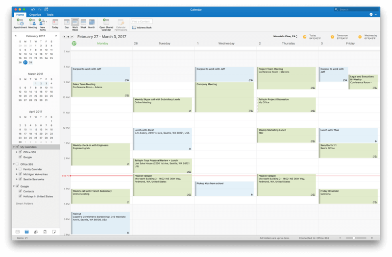Microsoft adds Google Calendar and Contacts support to