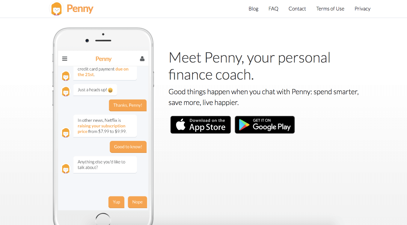 82bec4baba0d Penny takes on Mint with a bot to manage your money