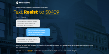 5 bots to try this week: Resistbot, SXSW, Rock Paper Scissors, MovieBot, and MojiHunt