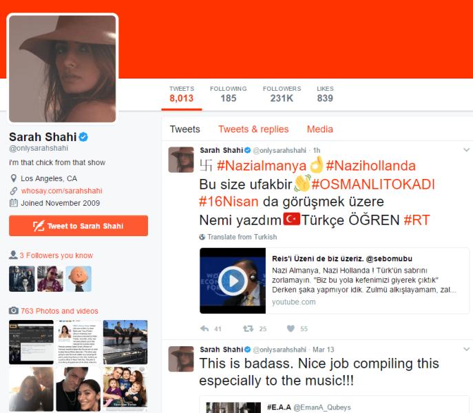 Sarah Shahi on Twitter