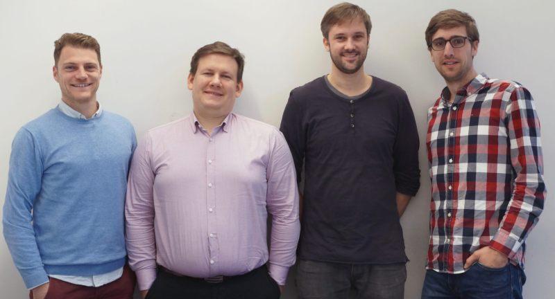 Stagelink Management team: COO Florian Fehr, CTO Mike Szyndel, Co-founder & VP Artist Relations Michael Schütz, CEO Nikolas Schriefer (from left to right)