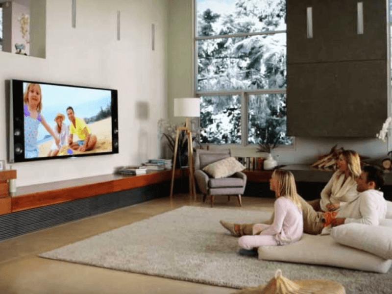 TV in living room new