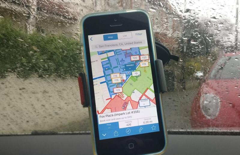 Parkopedia iPhone app: San Francisco parking