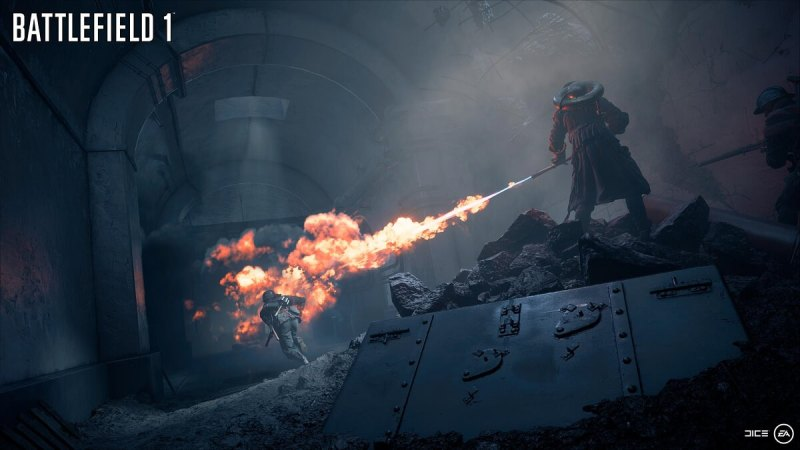 Flamethrowers in Battlefield 1: They Shall Not Pass.