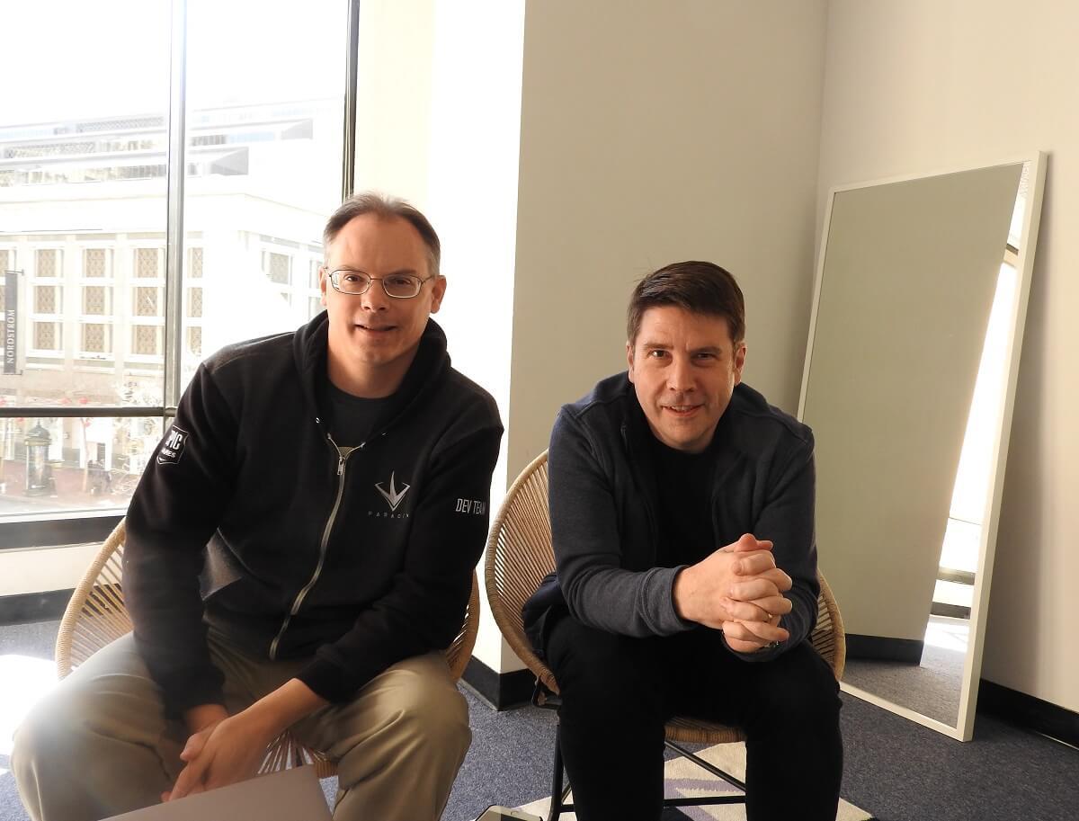 Tim Sweeney (left) and Kim Libreri of Epic Games.