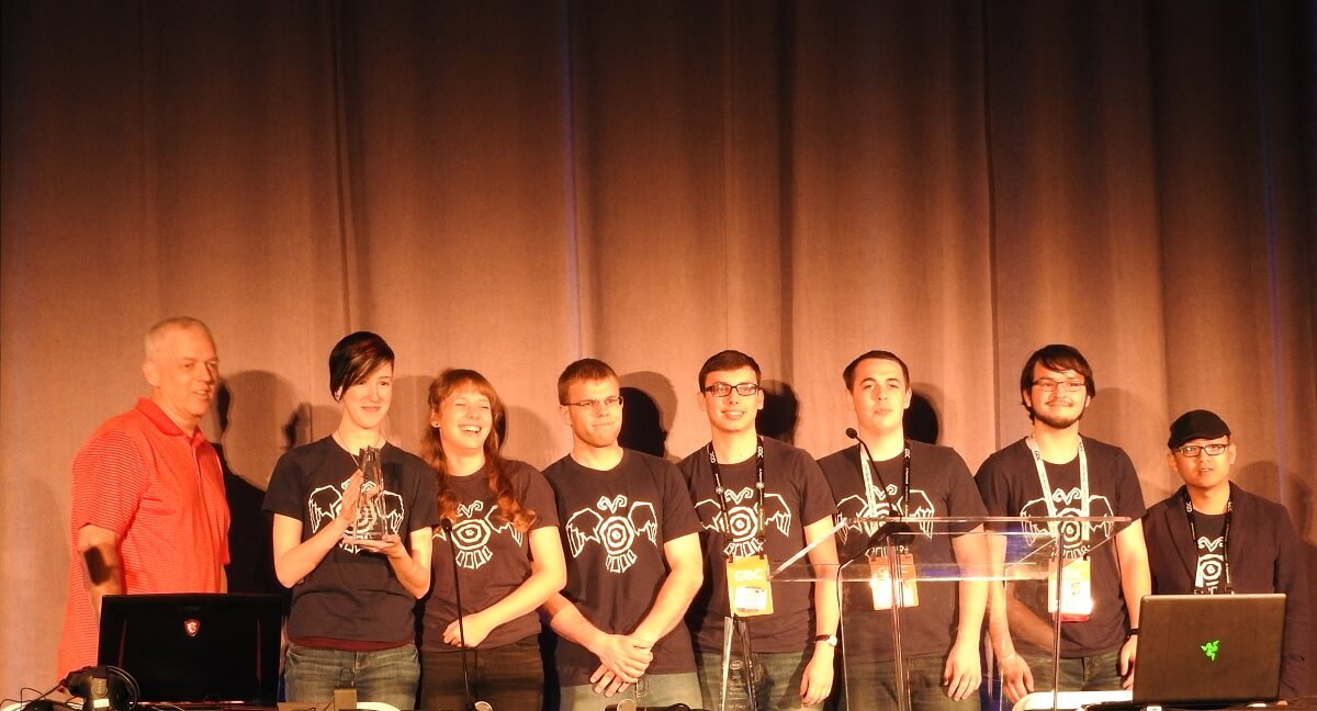 The University of Wisconsin Stout wins for best visuals at Intel University contest.
