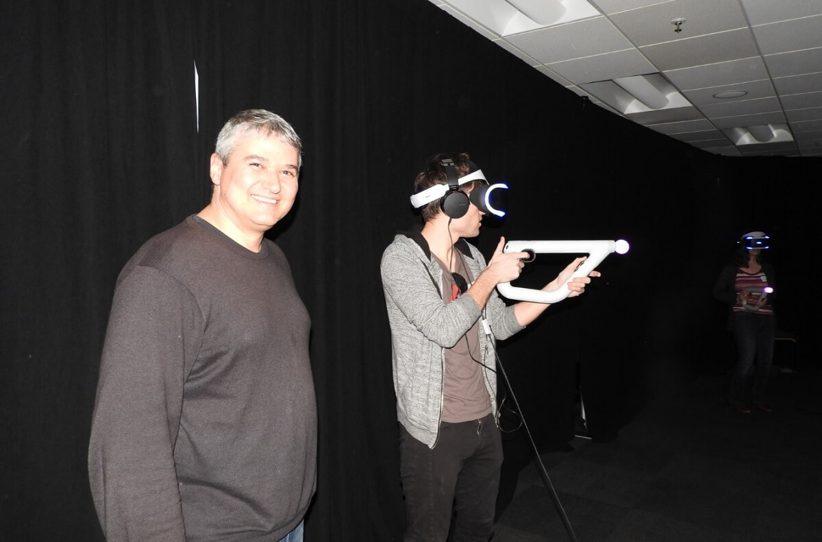 Seth Luisi, cofounder of Impulse Gear, maker of Farpoint on the PSVR.
