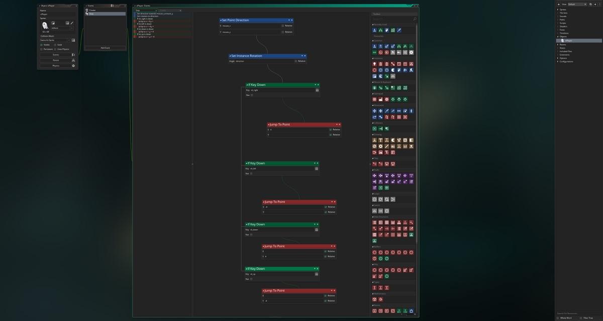 GameMaker Studio 2's user interface.