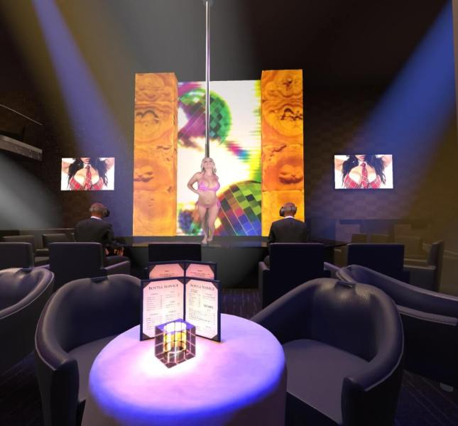 The Gold Club SF reproduced in VR.