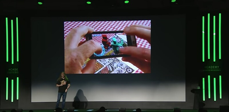 Graeme Devine shows old AR in a talk.