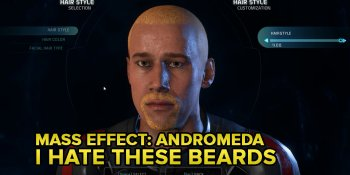 I hate the beards in Mass Effect: Andromeda
