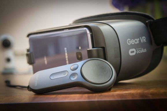 Samsung's Gear VR headset and Oculus-powered controller.