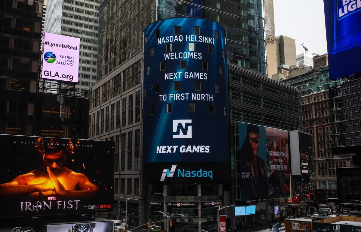Next Games goes public on the Helsinki Stock Exchange.