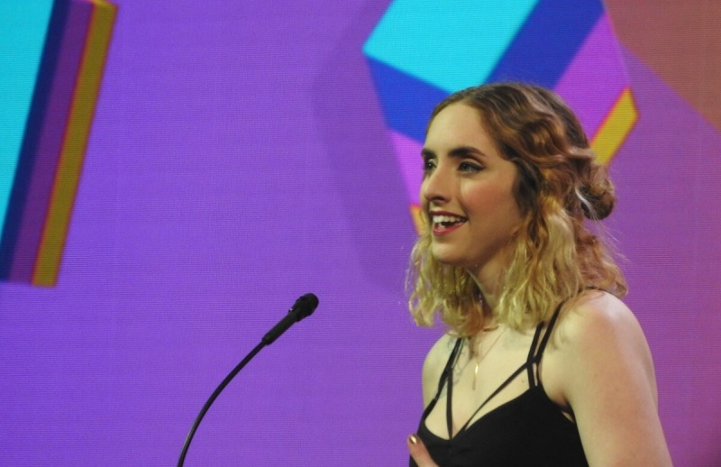 Nina Freeman at the IGF Awards.
