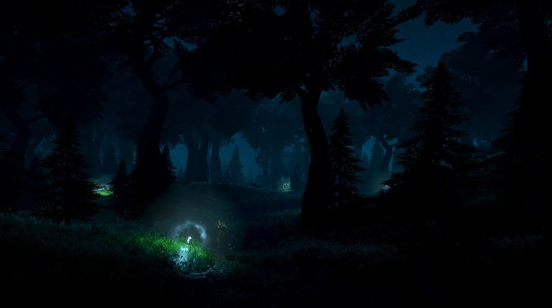 The world of Rend at night.