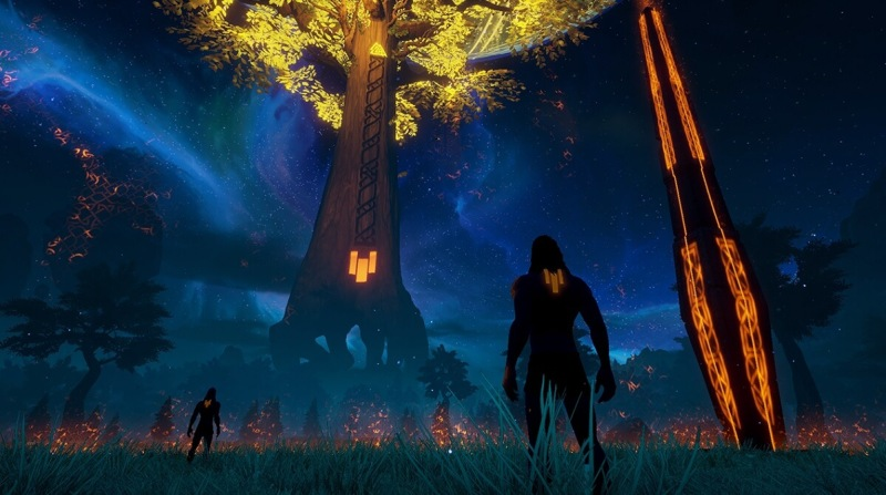 You have to defend that tree at the center of your base in Rend.