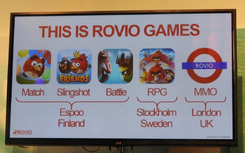Rovio has five game studios, including a new one in London that isn't making Angry Birds games.