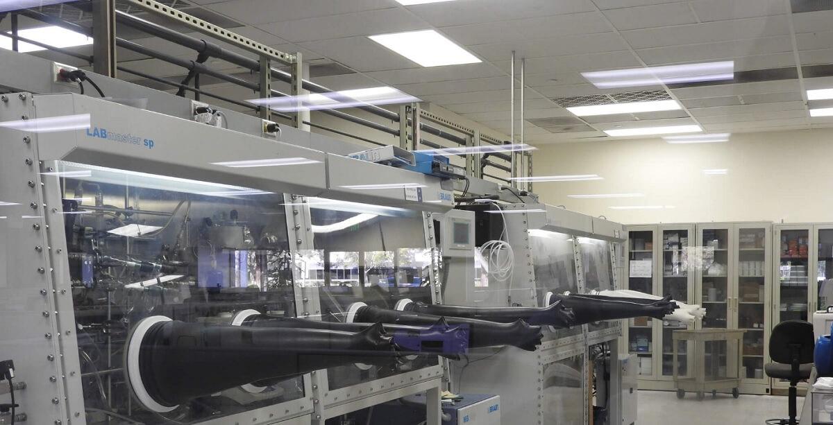 Thinfilm's tech lab.