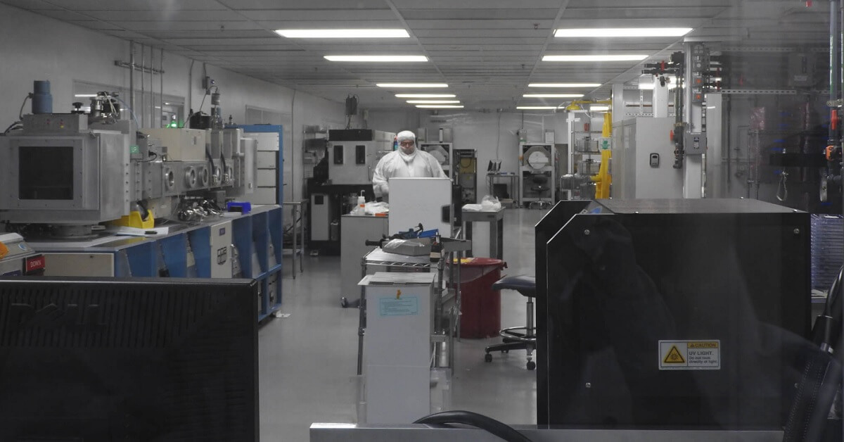 Thinfilm's older factory could do 1 million chips in a month. Soon it will do 100 million in a month.