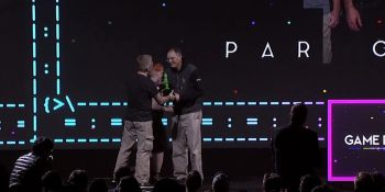 Archrivals in excellence: Epic's Tim Sweeney received his GDC lifetime award from John Carmack