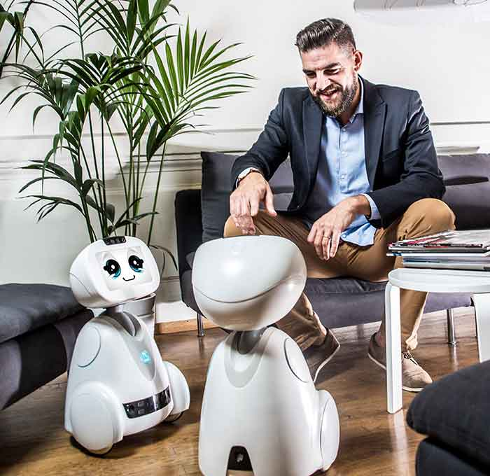 Blue Frog Robotics did numerous tests to identify the ideal size for their family-friendly home robot, Buddy. Image Credit: Blue Frog Robotics SAS / RGA